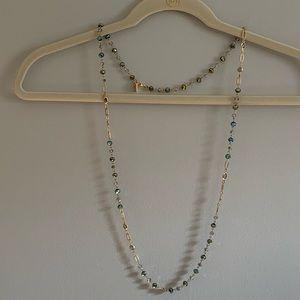 Anne Klein necklace with blue crystals